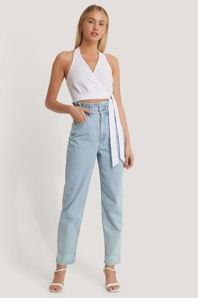 High Waist Front Pockets Denim