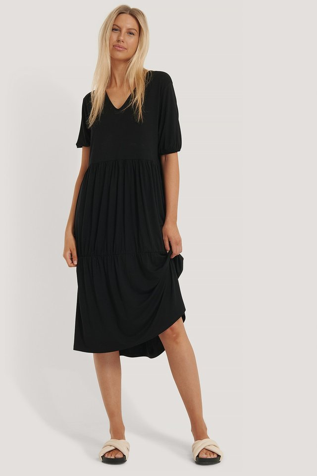 Wavy Midi Dress