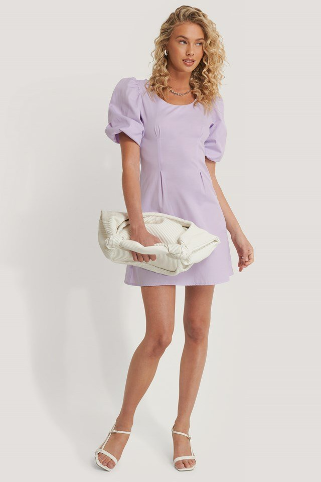 Short Puff Sleeve Mini Dress