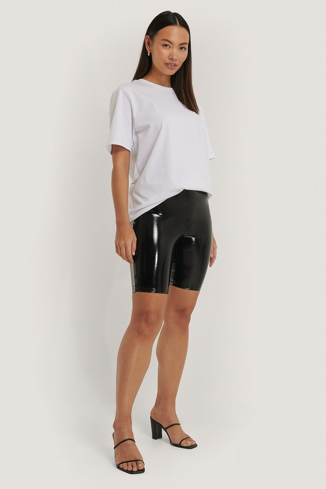 Shiny Biker Shorts