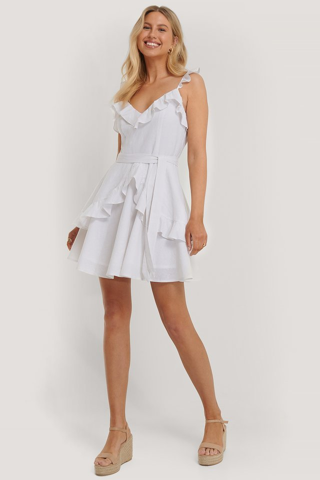 Flounce Detail Mini Dress
