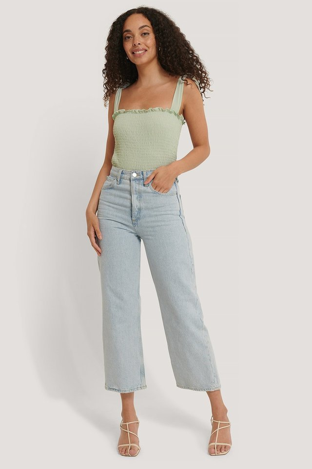 Smock Knot Top Outfit