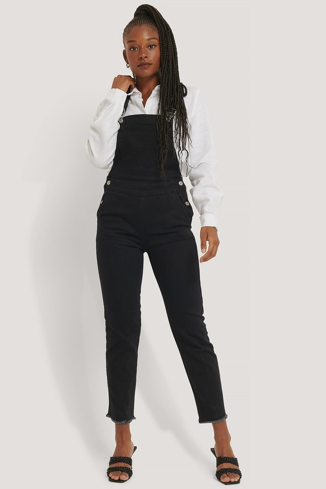 Black Denim Dungaree