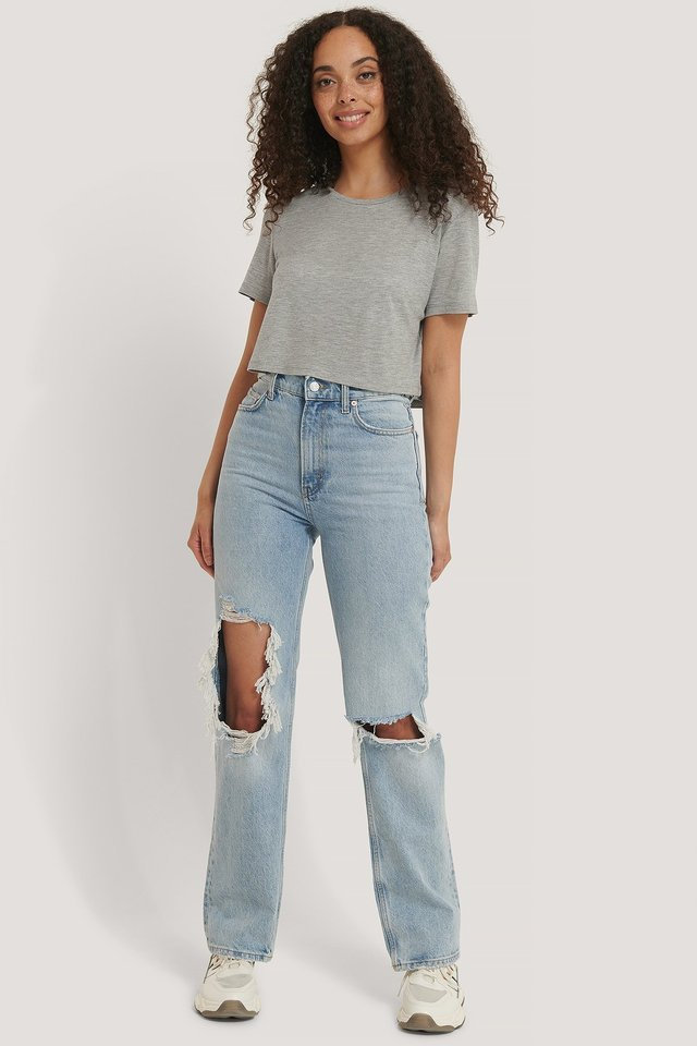 Viscose Cropped Tee