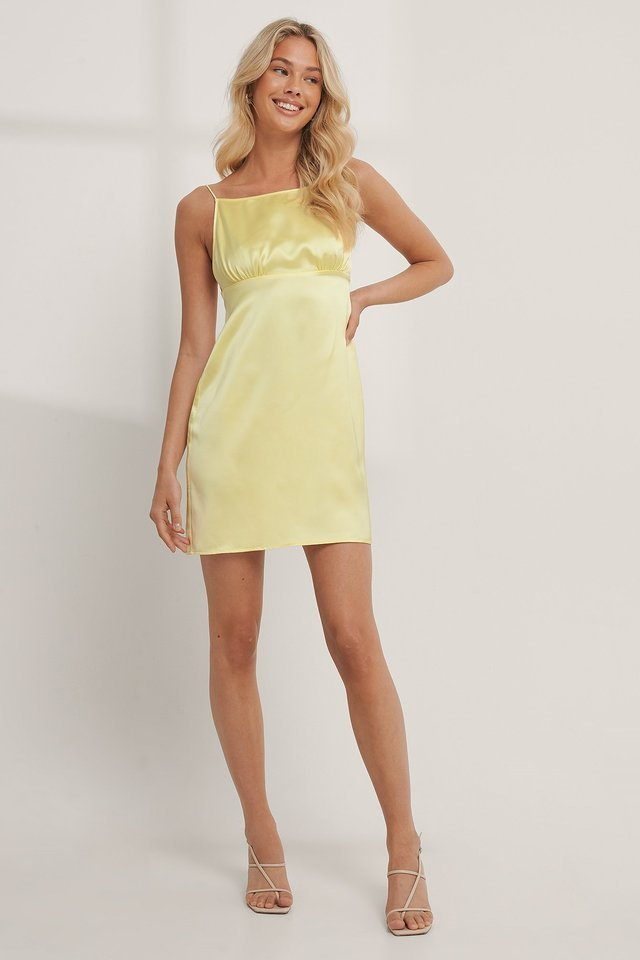 Tie Back Satin Dress