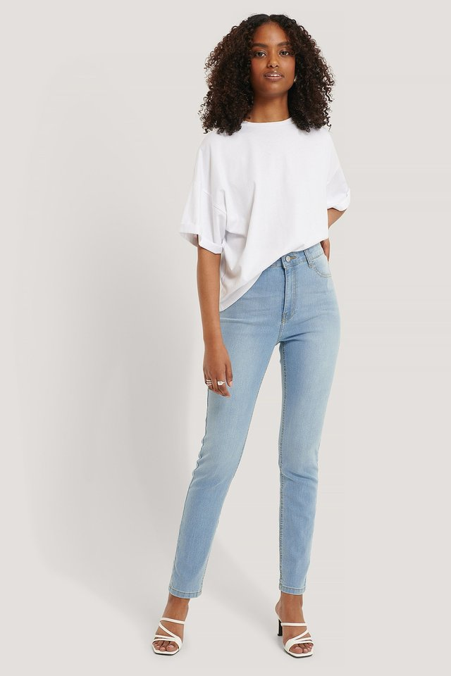 Fake Pocket Skinny Jeans Outfit