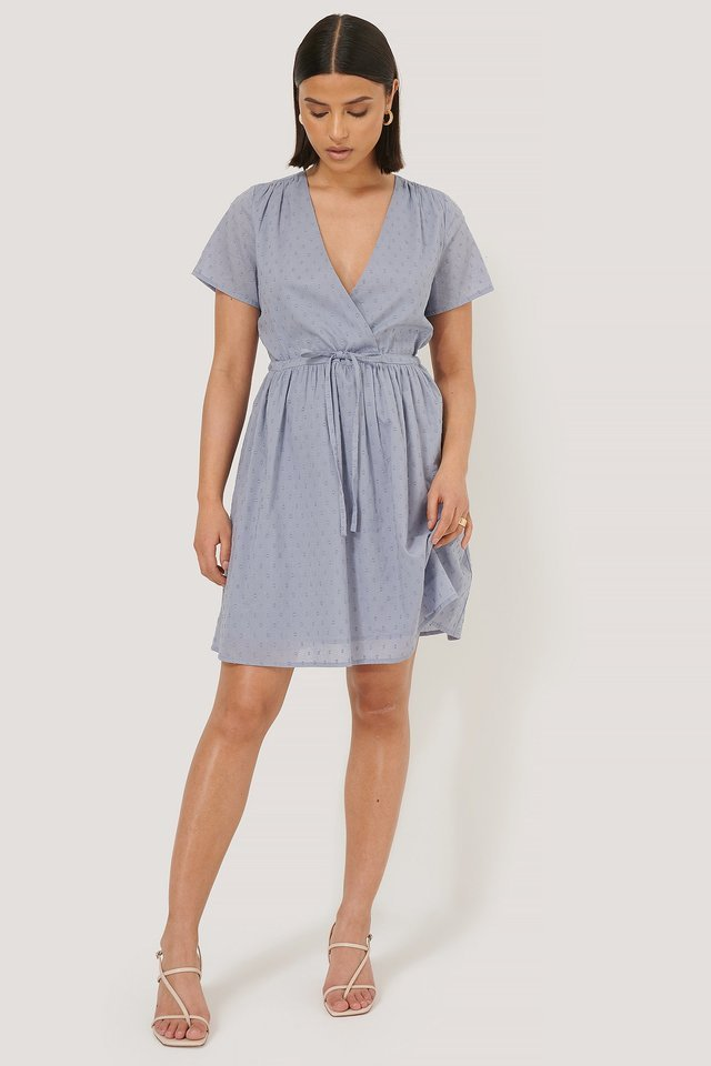 Dobby Drawstring Dress Outfit
