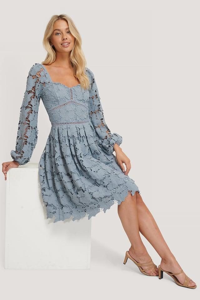 Flower Crochet Dress Outfit
