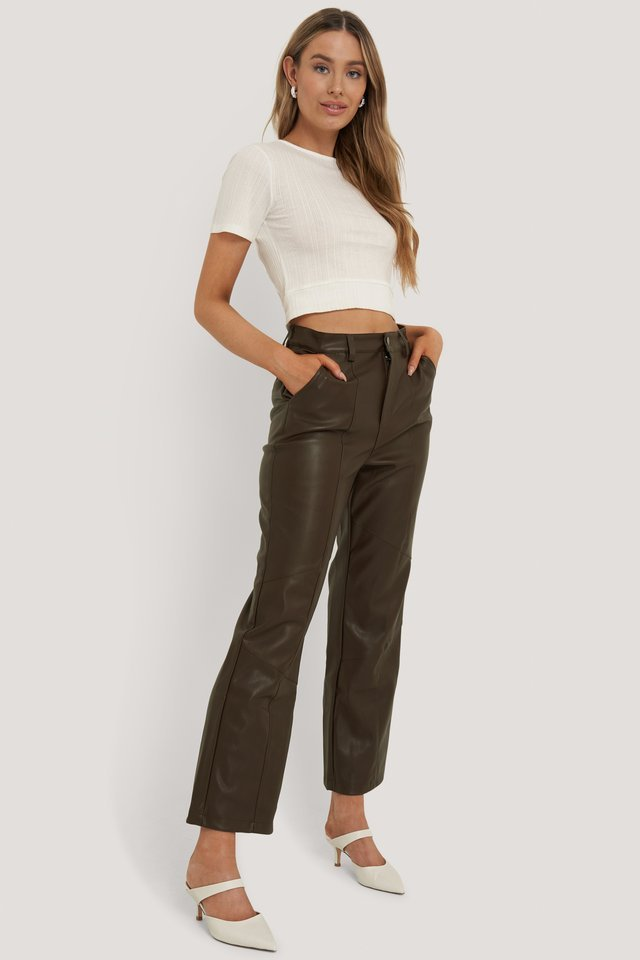 Structured Cut Out Top