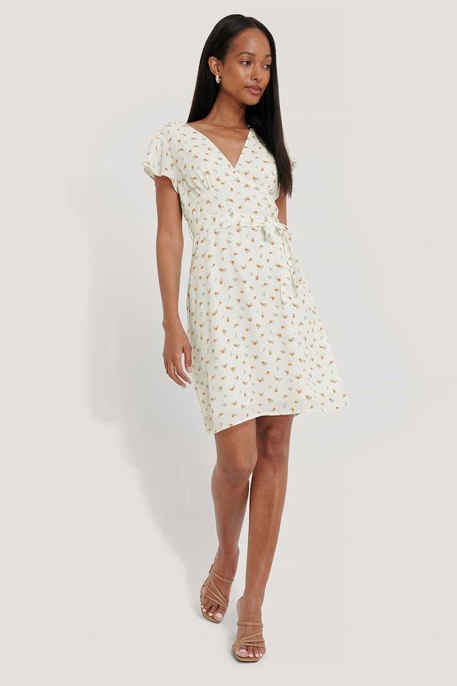 Smocked Back Flounce Dress Outfit