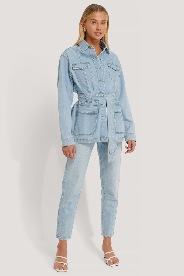Detailed Denim Jacket Outfit