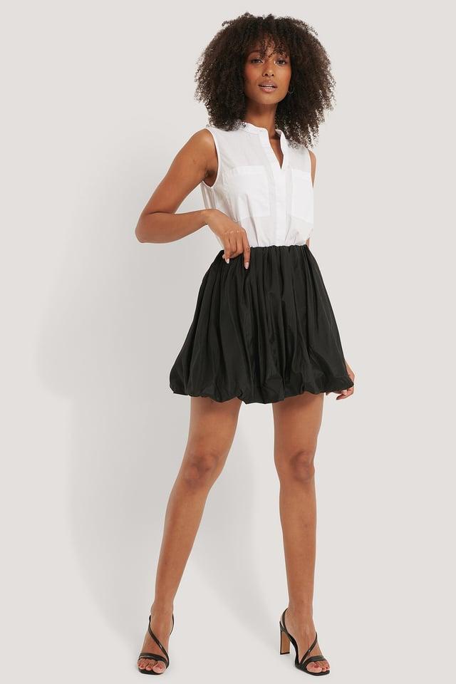 Balloon Mini Skirt Outfit