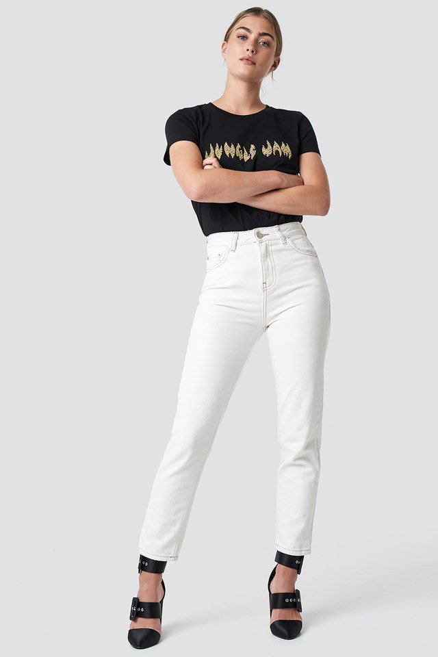 Classic Tee and Denim Jeans