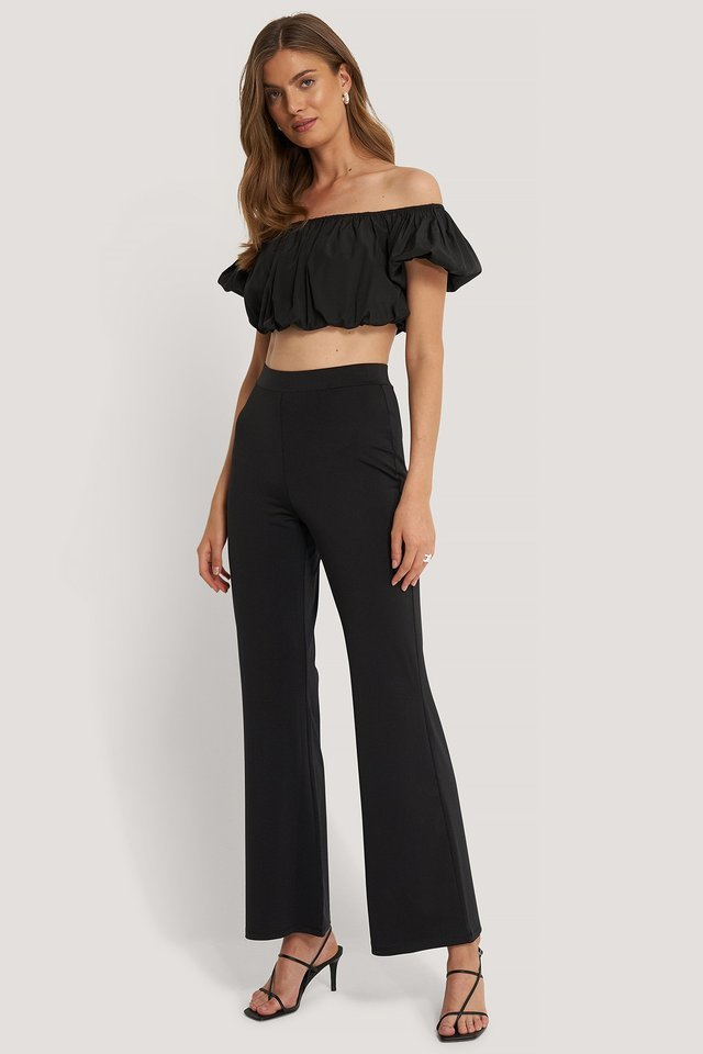 Wide Flowy Pants Outfit