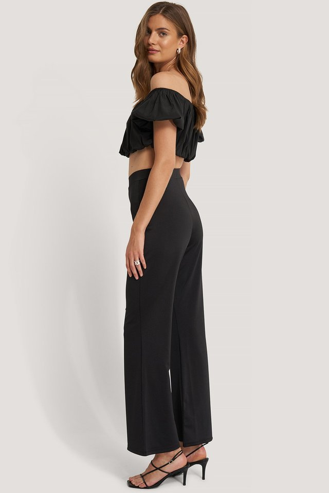 WIDE FLOWY PANTS