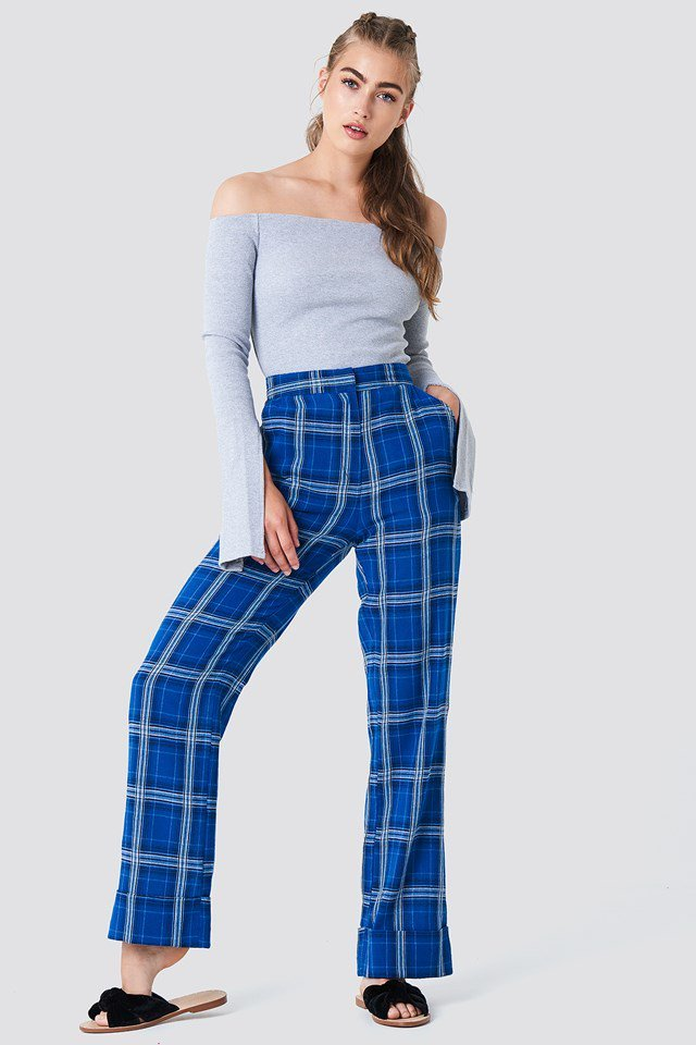 Off Shoulder Top with High Rise Pants