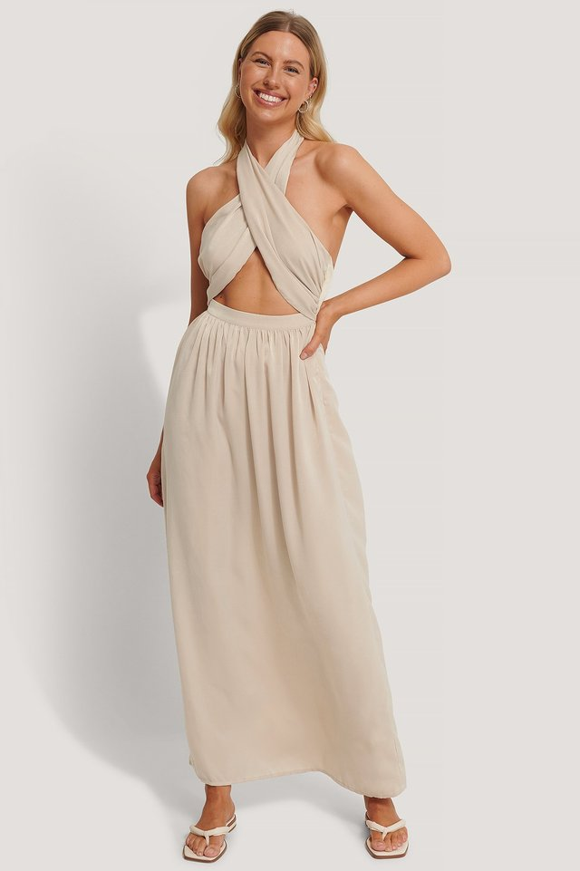 Crossed Front Maxi Dress Outfit