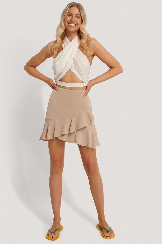 Flounce Mini Skirt Outfit