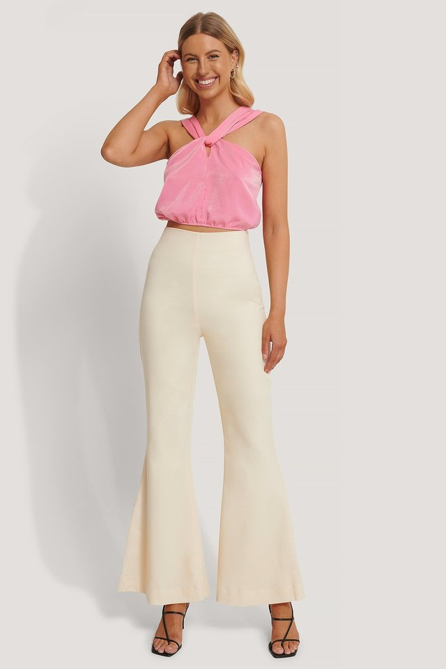 Kick Flare Suit Pants Outfit