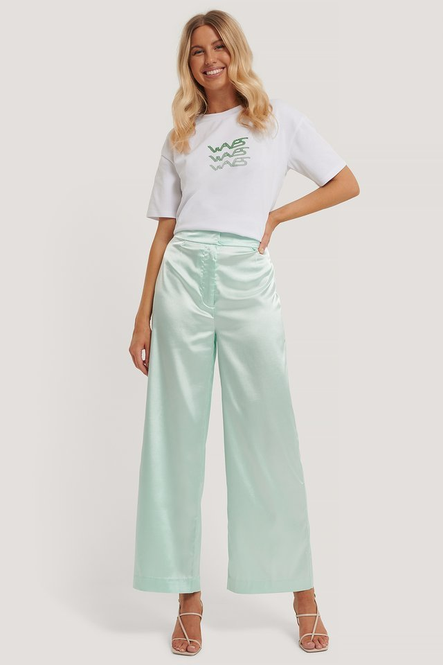 Flowy Satin Pants Outfit