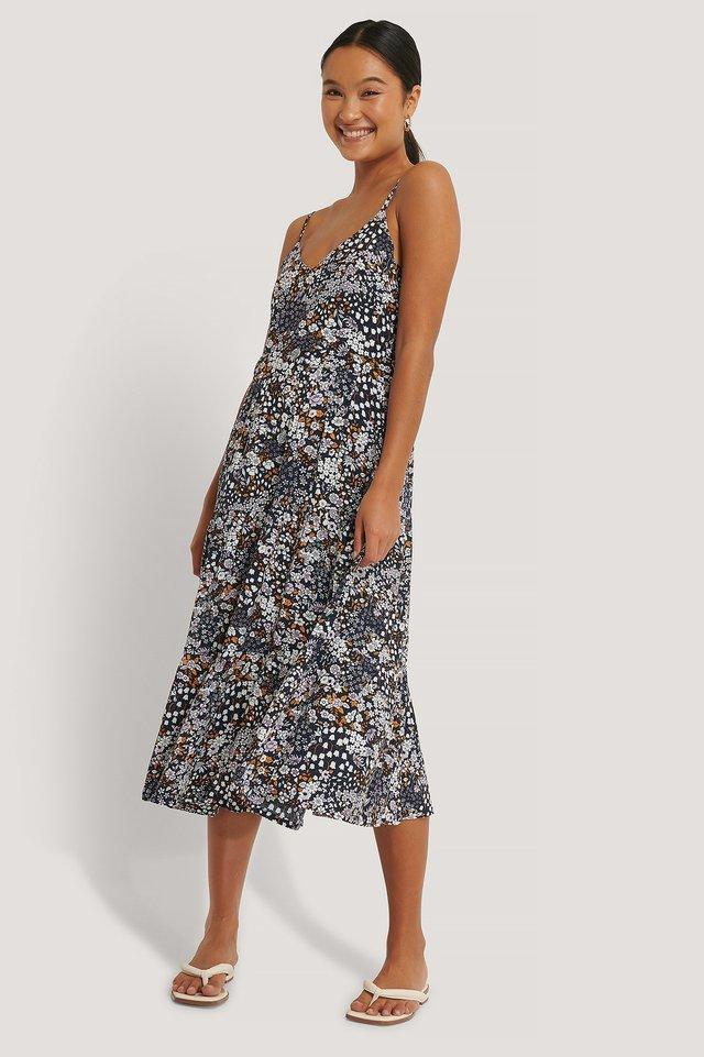 Thin Strap Layered Dress