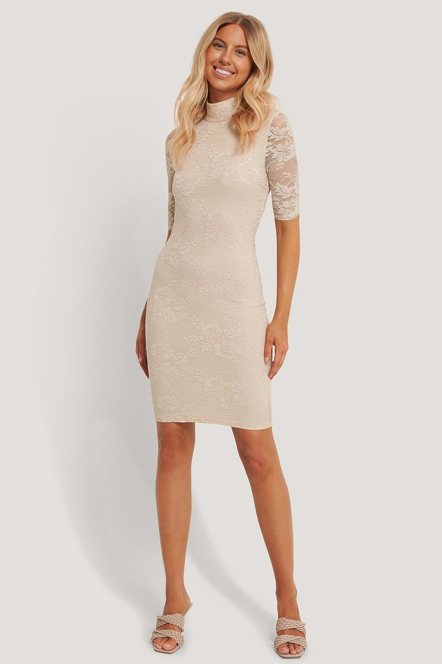 Open Back Lace Dress Outfit