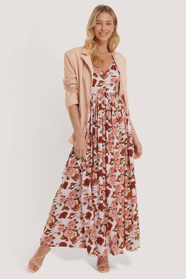 Thin Strap Flowy Maxi Dress