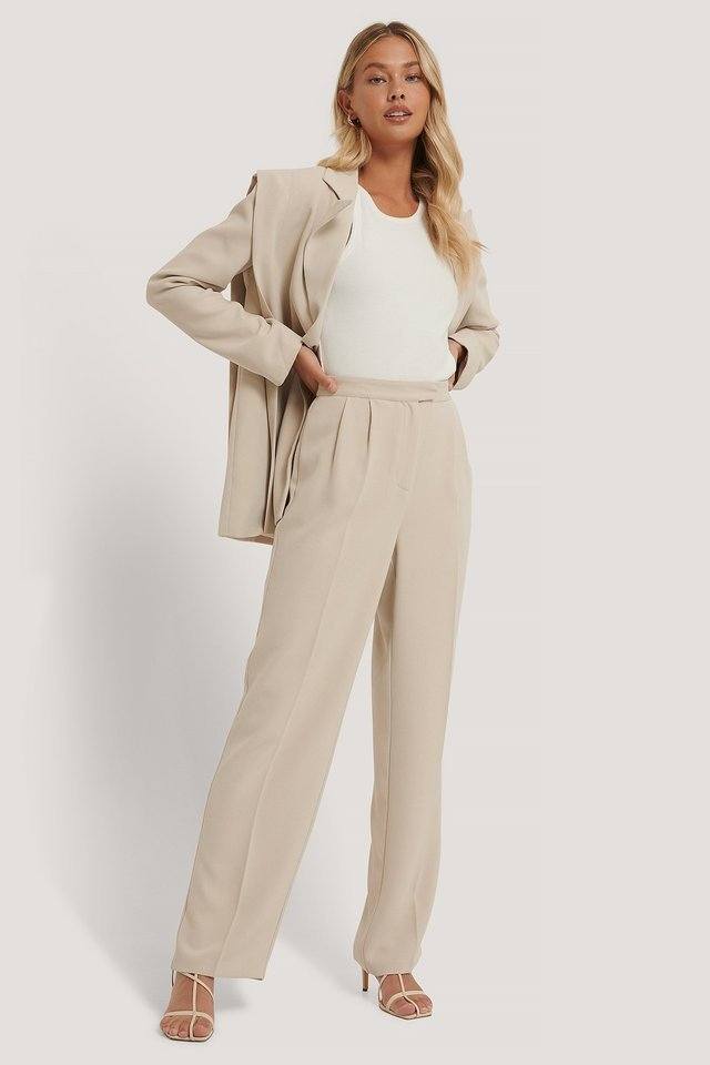 Tailored Wide Leg Trousers