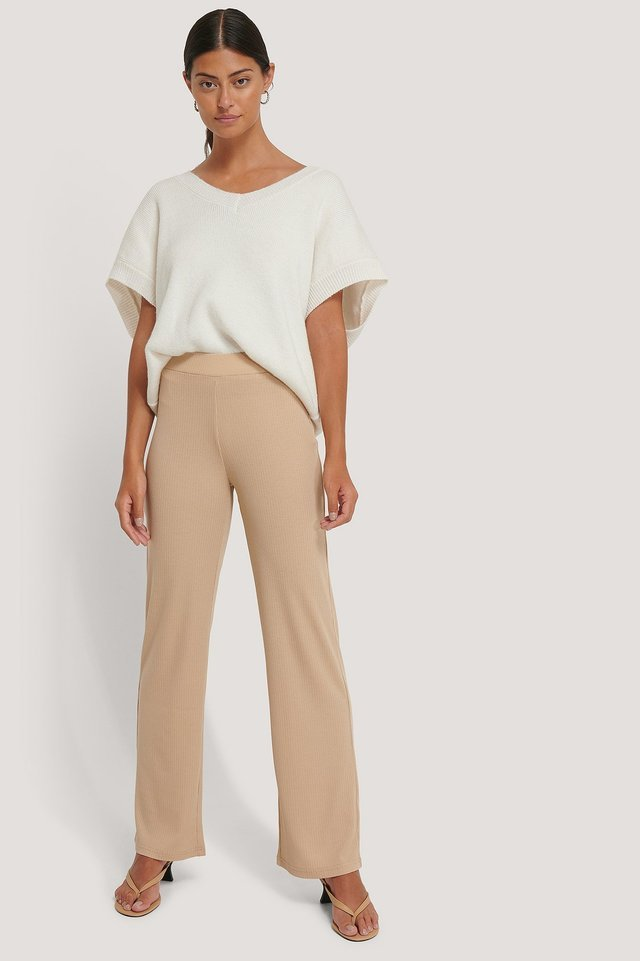 Ribbed Jersey Pants
