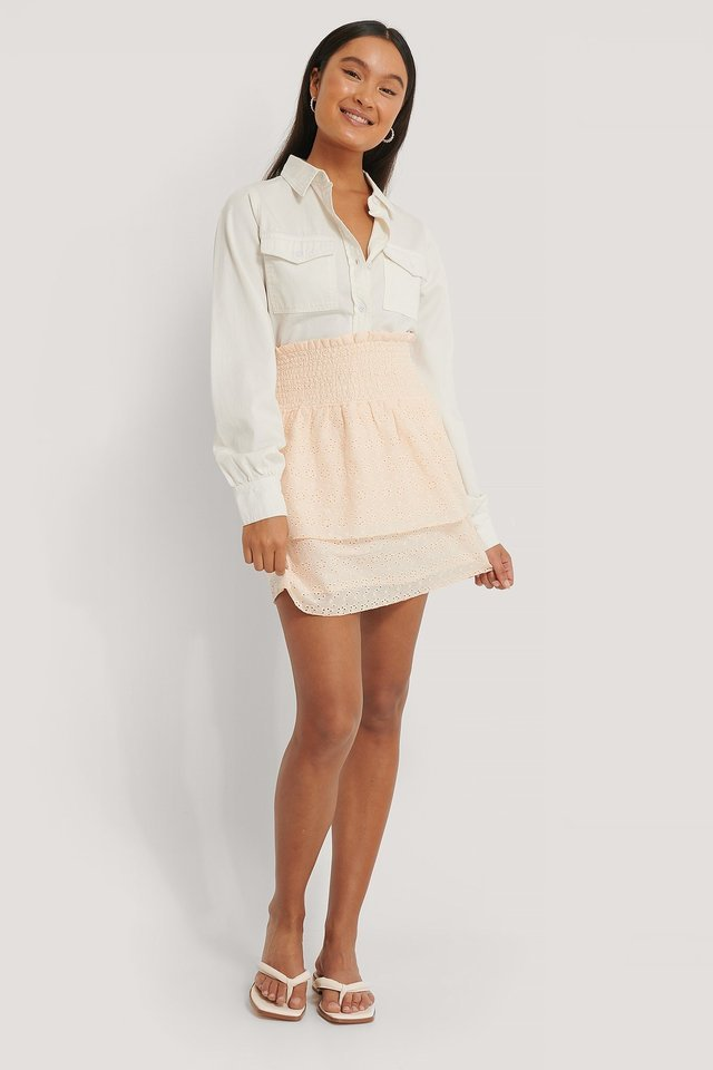 Smocked Anglaies Skirt