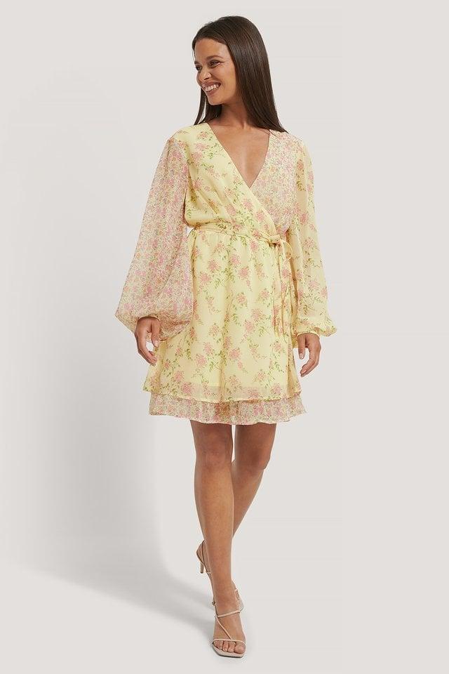 Block Print Mini Dress