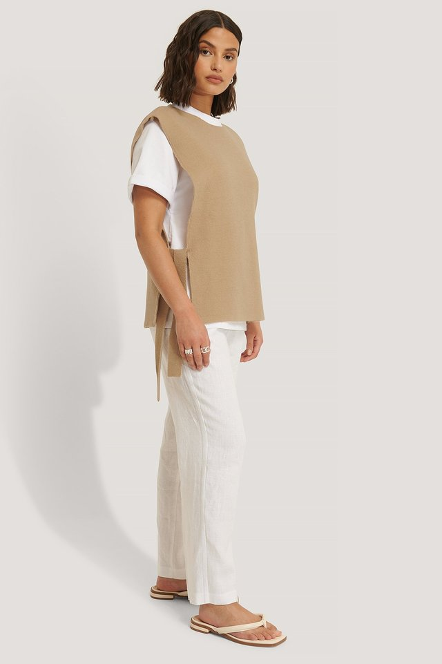Open Side Knitted Vest Outfit
