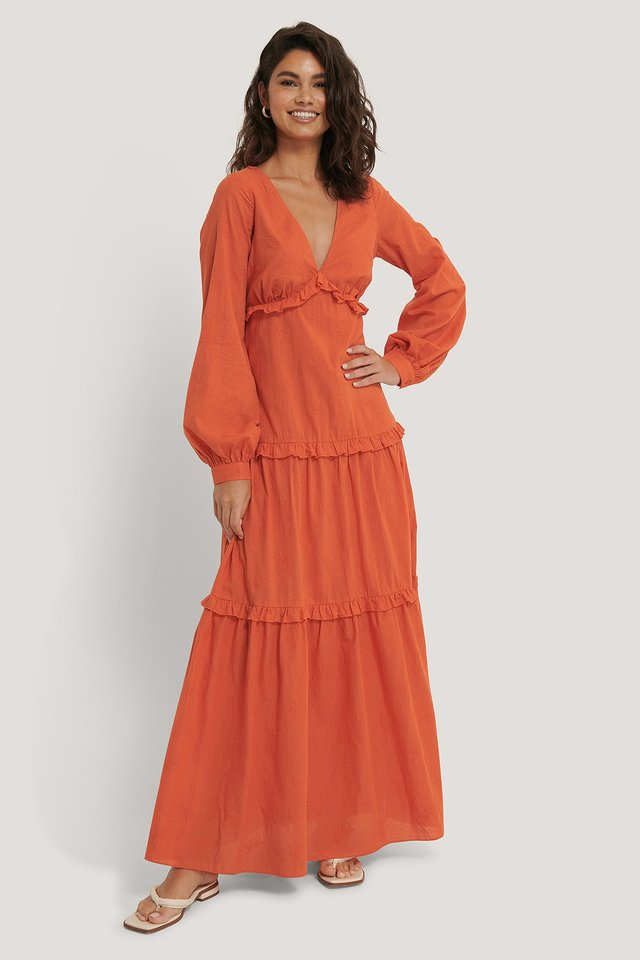 Textured Flowy Maxi Dress Outfit