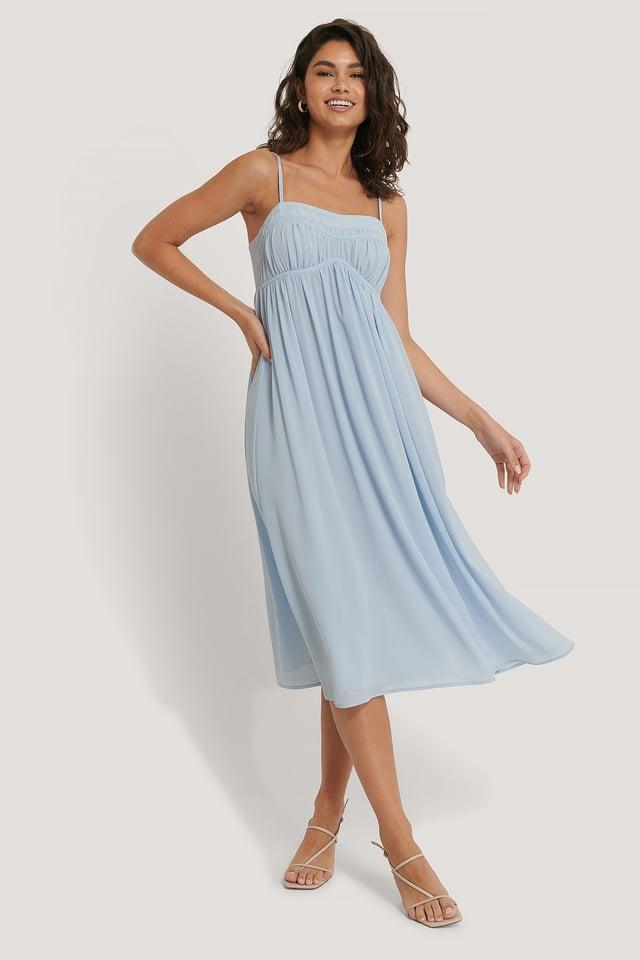 Chiffon Midi Dress Outfit