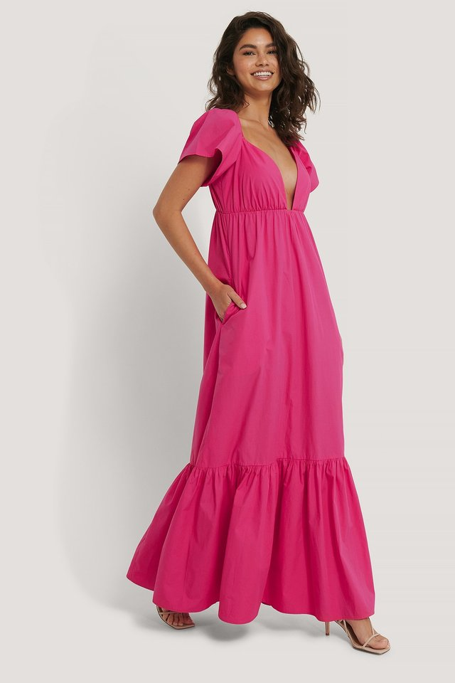 Flounce Long Dress Outfit