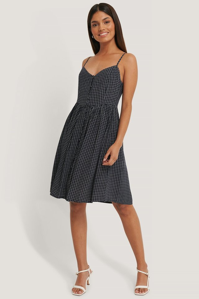 Multi Button Strappy Dress