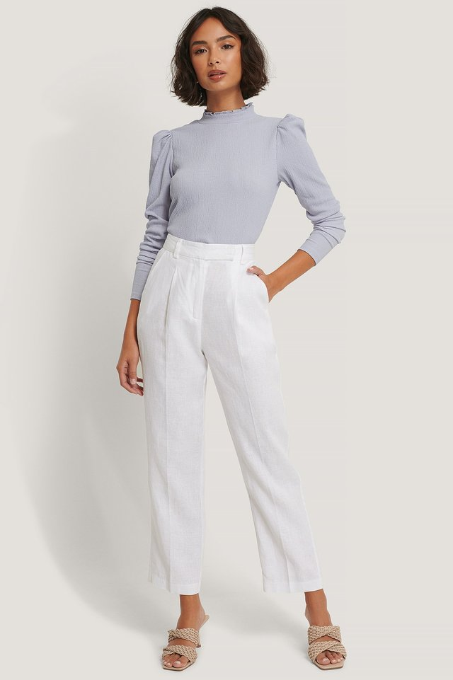 High Neck Structured Jersey Top Outfit