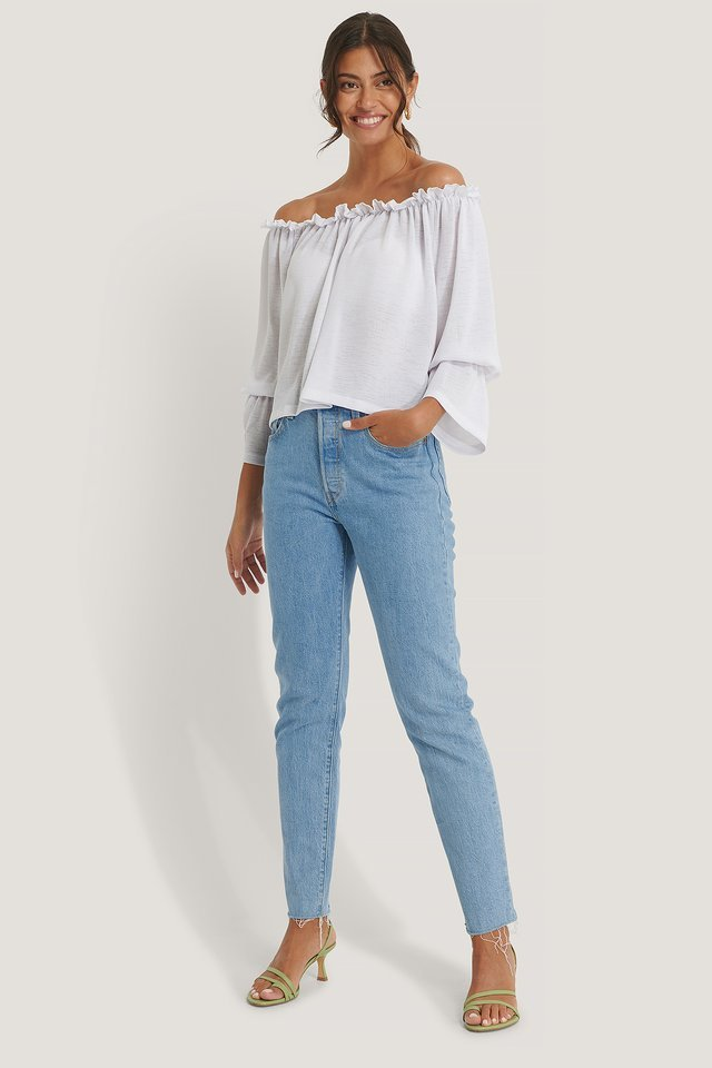 Off Shoulder Lettuce Top