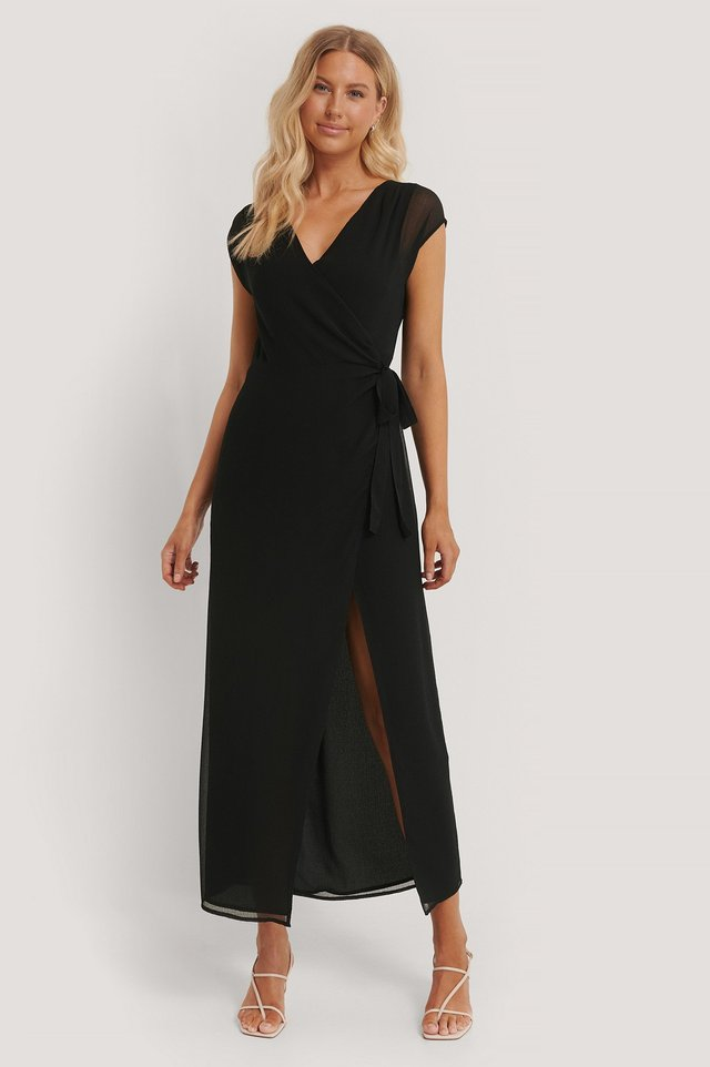 Overlapped Maxi Dress