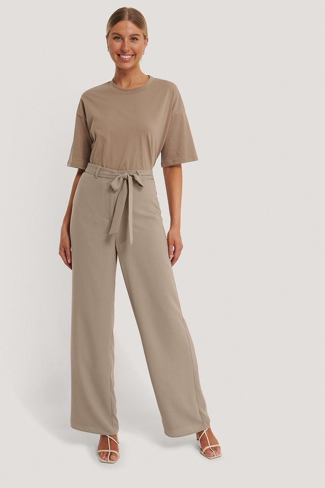Loose Fit Belt Trousers