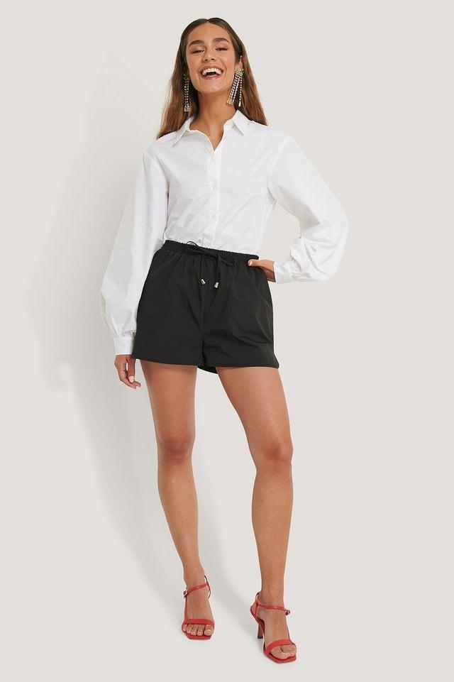Black Organisch Jersey-Shorts