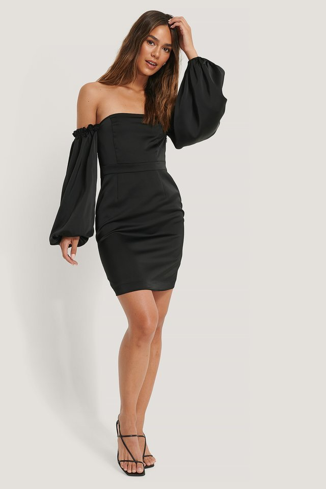 Volume Sleeve Dress