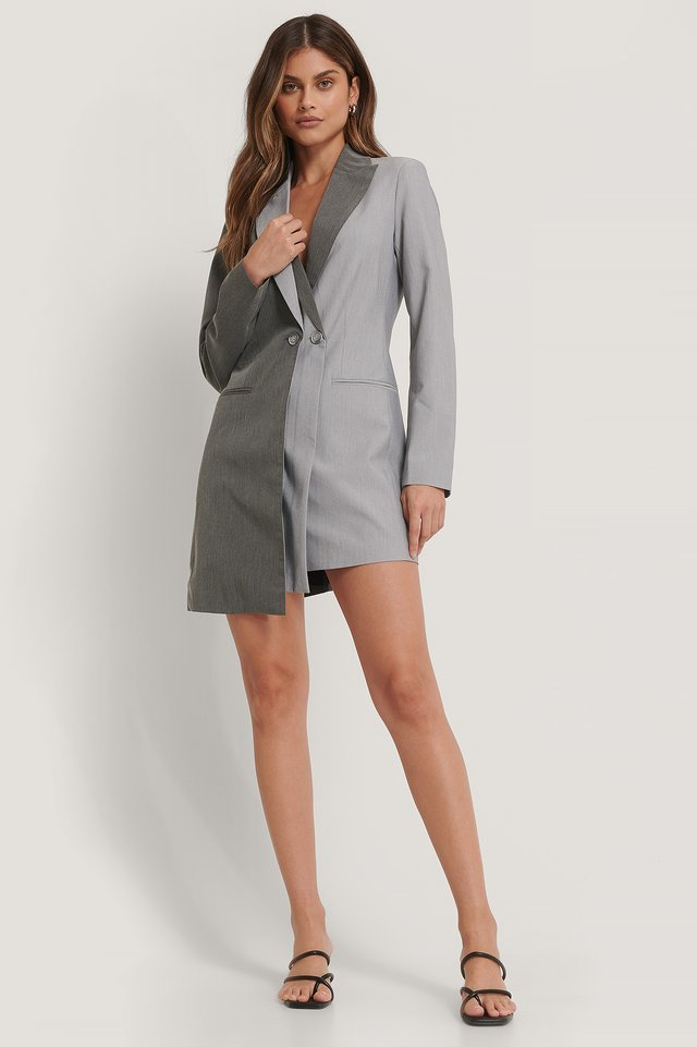 Two Layered Blazer Dress