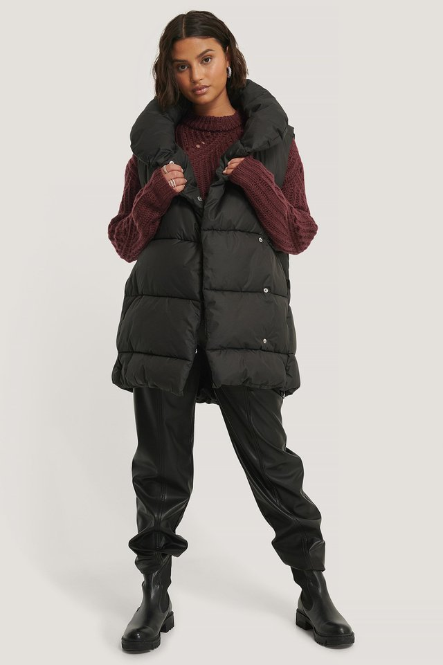High Neck Padded Vest