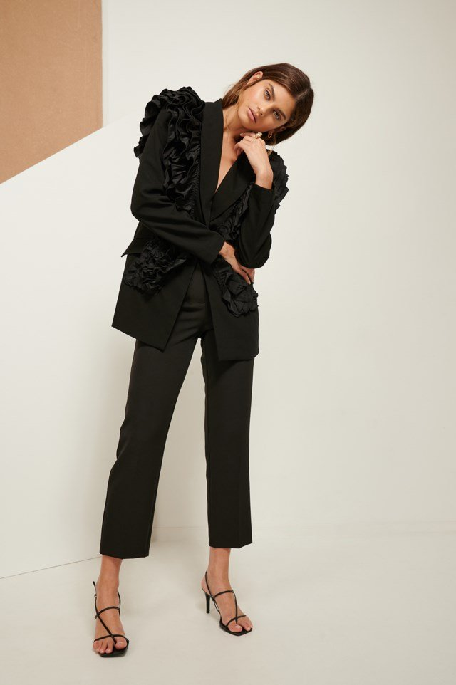 Frilled Shoulder Blazer
