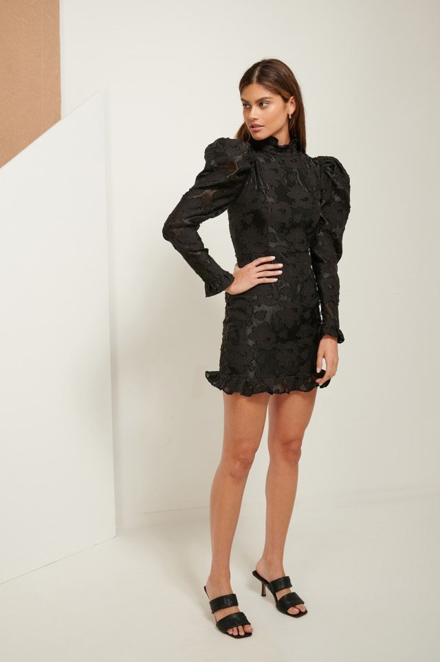 Volume Lace Mini Dress
