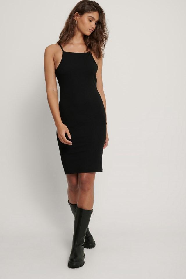 Thin Strap Jersey Dress