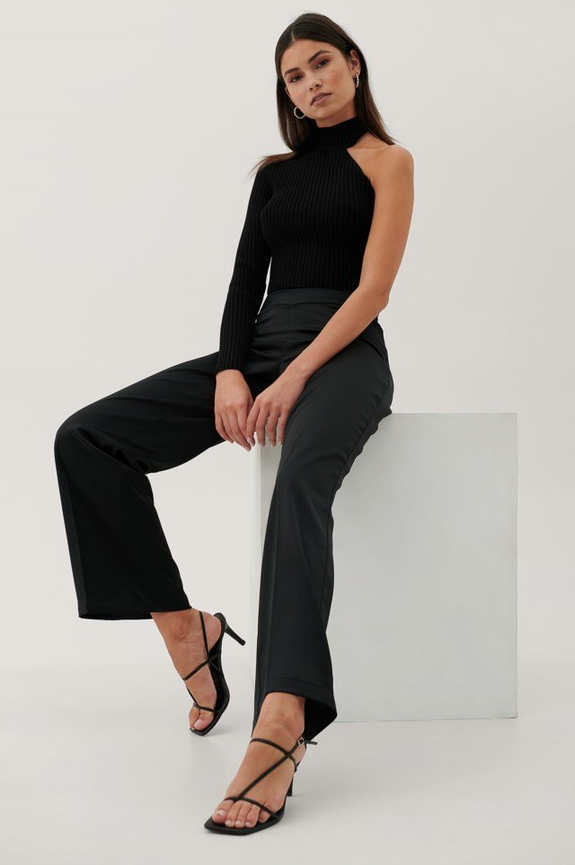V-Shaped Waist Suit Pants