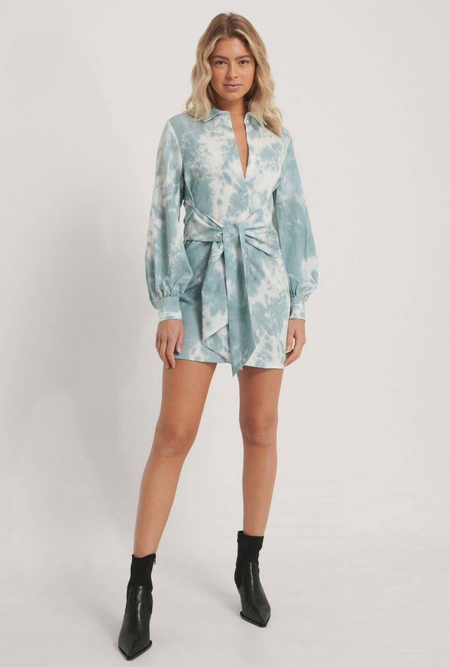 Front Knot Shirt Dress