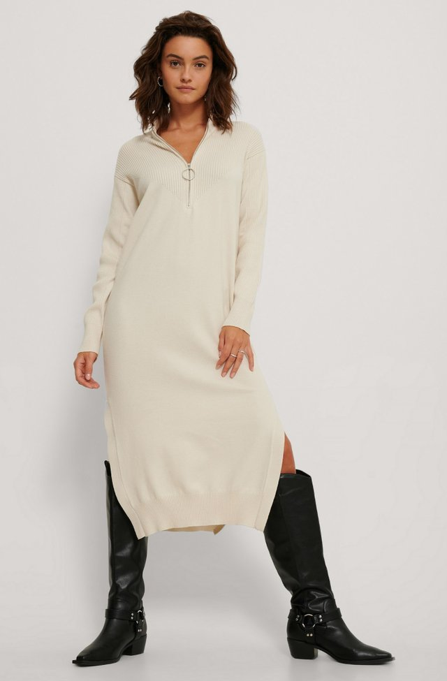 Side Slit Knit Dress